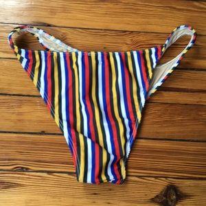 American Apparel Swim - NWOT AA Barcelona Stripes Brazilian Bikini Bottom